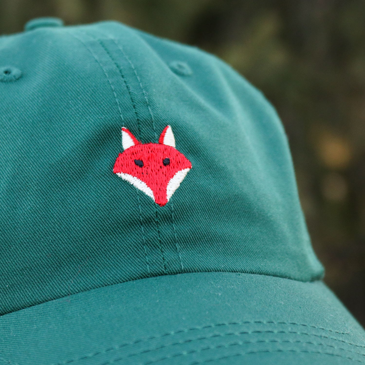 Embroidered Fox Hat