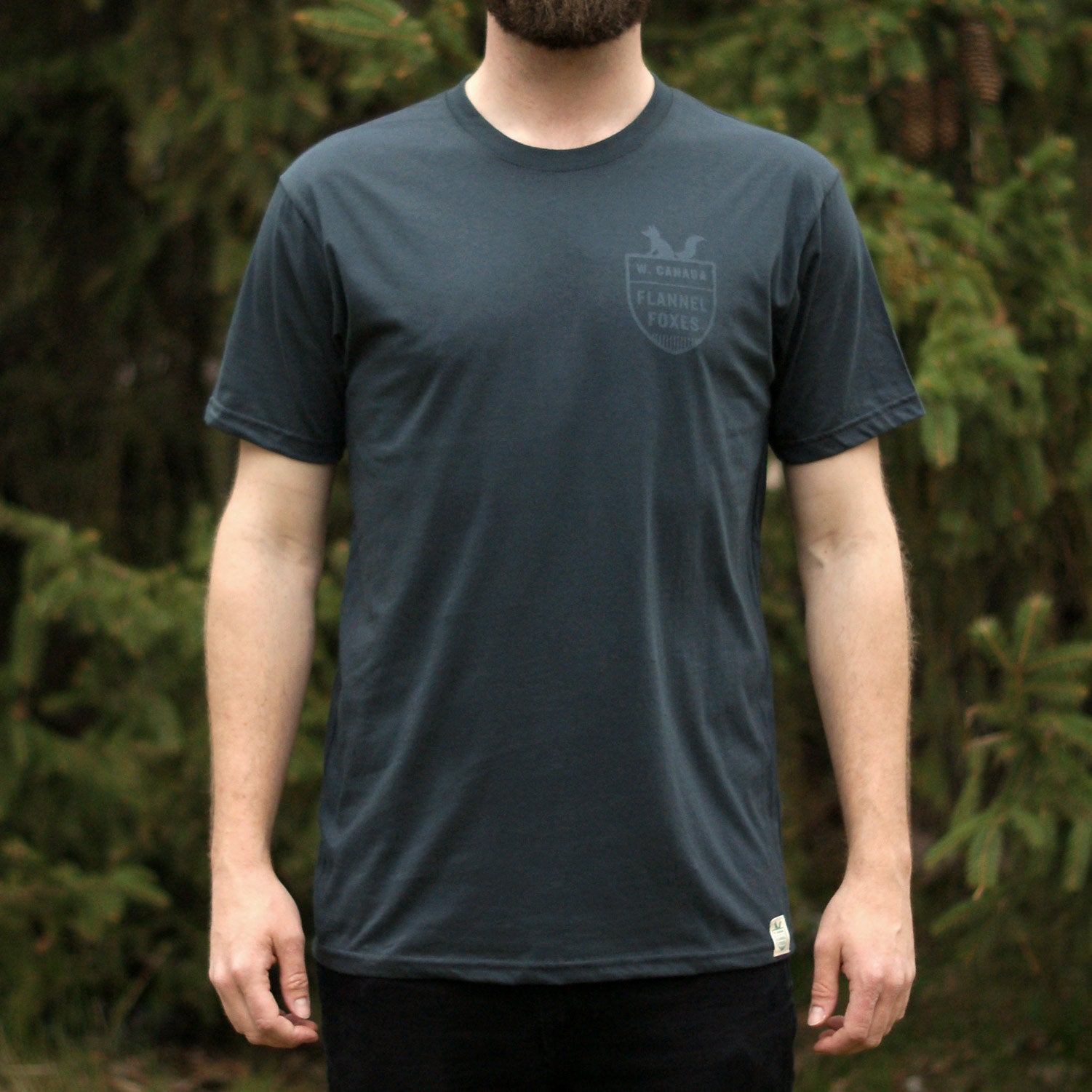 Fox Shield Tee - Charcoal
