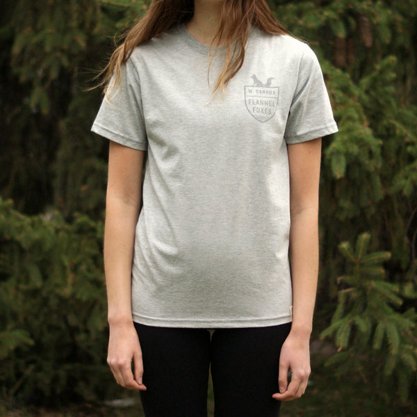 Fox Shield Tee - Grey