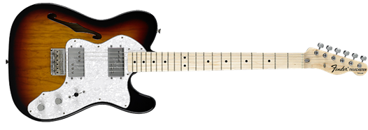 Classic Series '72 Telecaster Thinline, Maple Fingerboard, 3-Color Sunburst