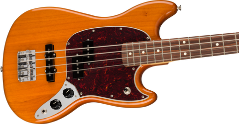 Bajo Eléctrico Fender Player Mustang Bass PJ, Pau Ferro, Aged Natural
