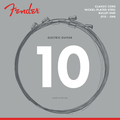 Classic Core Electric Guitar Strings, 3255L, Nickel Plated Steel, Bullet Ends (.010-.046)