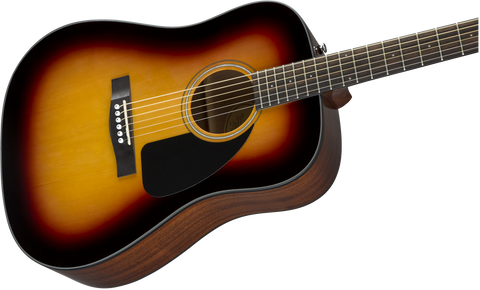 Guitarra Acústica Fender CD-60S Dreadnought V3 w/Case, Walnut Fingerboard, Sunburst