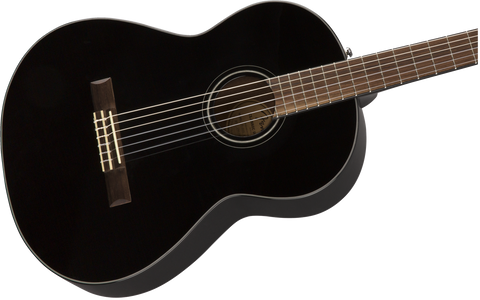 Guitarra Acústica Fender CN-60S Nylon, Walnut Fingerboard, Black