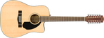 CD-60SCE Dreadnought 12-string, Walnut Fingerboard, Natural