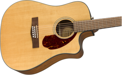 Guitarra Electroacústica Fender CD-140SCE 12-String ,con estuche, Walnut Fingerboard, Natural