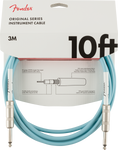 Cable Fender (3m) Original Series Instrument Cable, 10', Daphne Blue