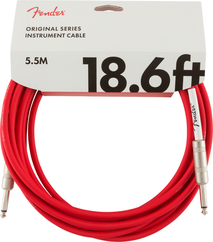Original Series Instrument Cable, 18.6', Fiesta Red
