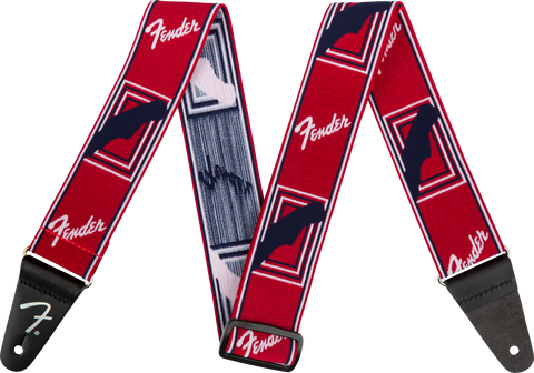 "Tahalí Fender Weighless™ 2"" Mono Strap, Red/White/Blue"