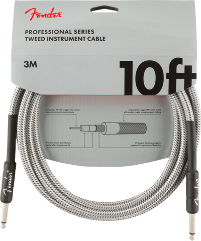 Cable Fender (3m) Professional Series White Tweed
