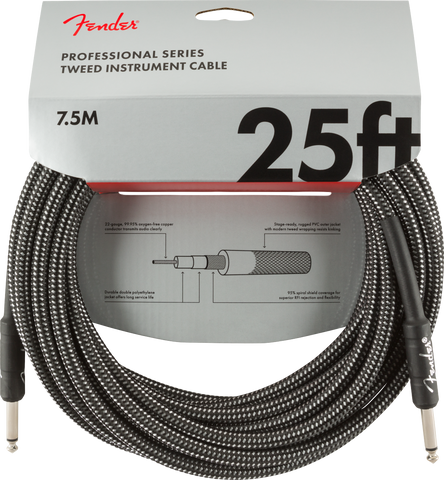 Professional Series Instrument Cable, 25', Gray Tweed