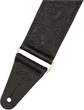 "Tahalí Fender Tooled Leather Guitar Strap, 2"", Black"
