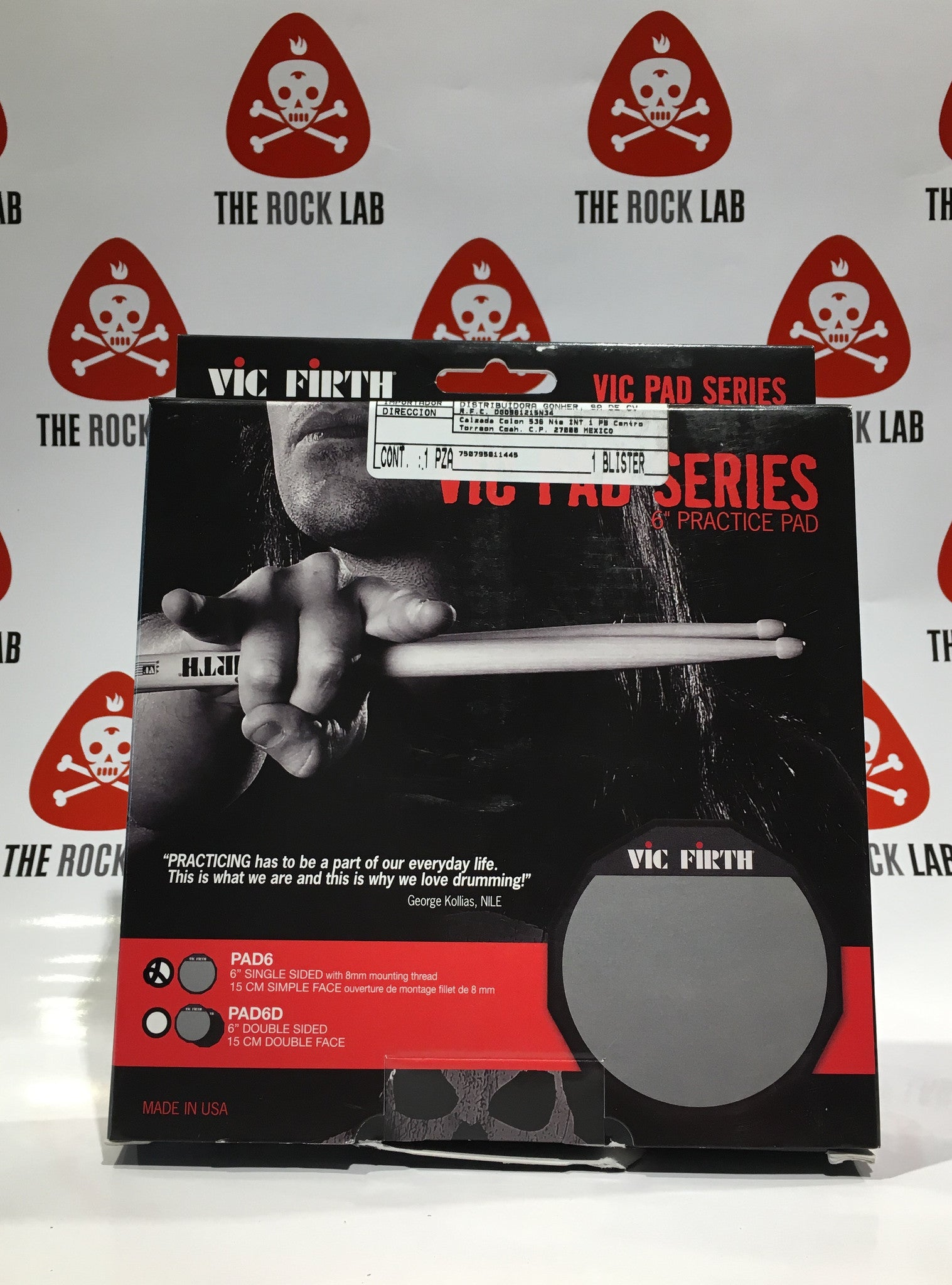 VIC FIRTH PAD 6""