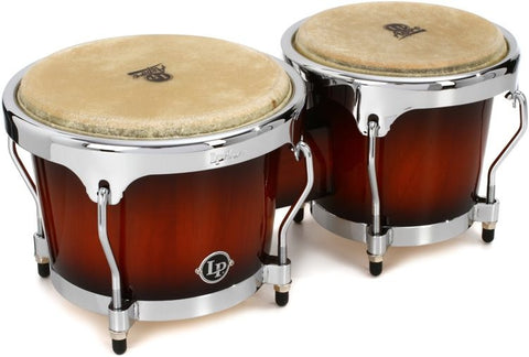 BONGO ASPIRE WOOD , SUNBURST, CHROME HW LPA601-SBC