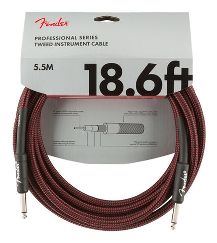 Professional Series Instrument Cable, 18.6', Red Tweed