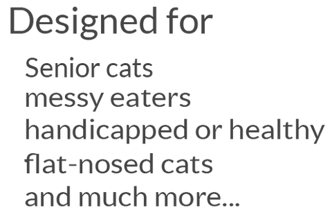 the CAT TONGUE for senior cats messy eaters handicapped healthy