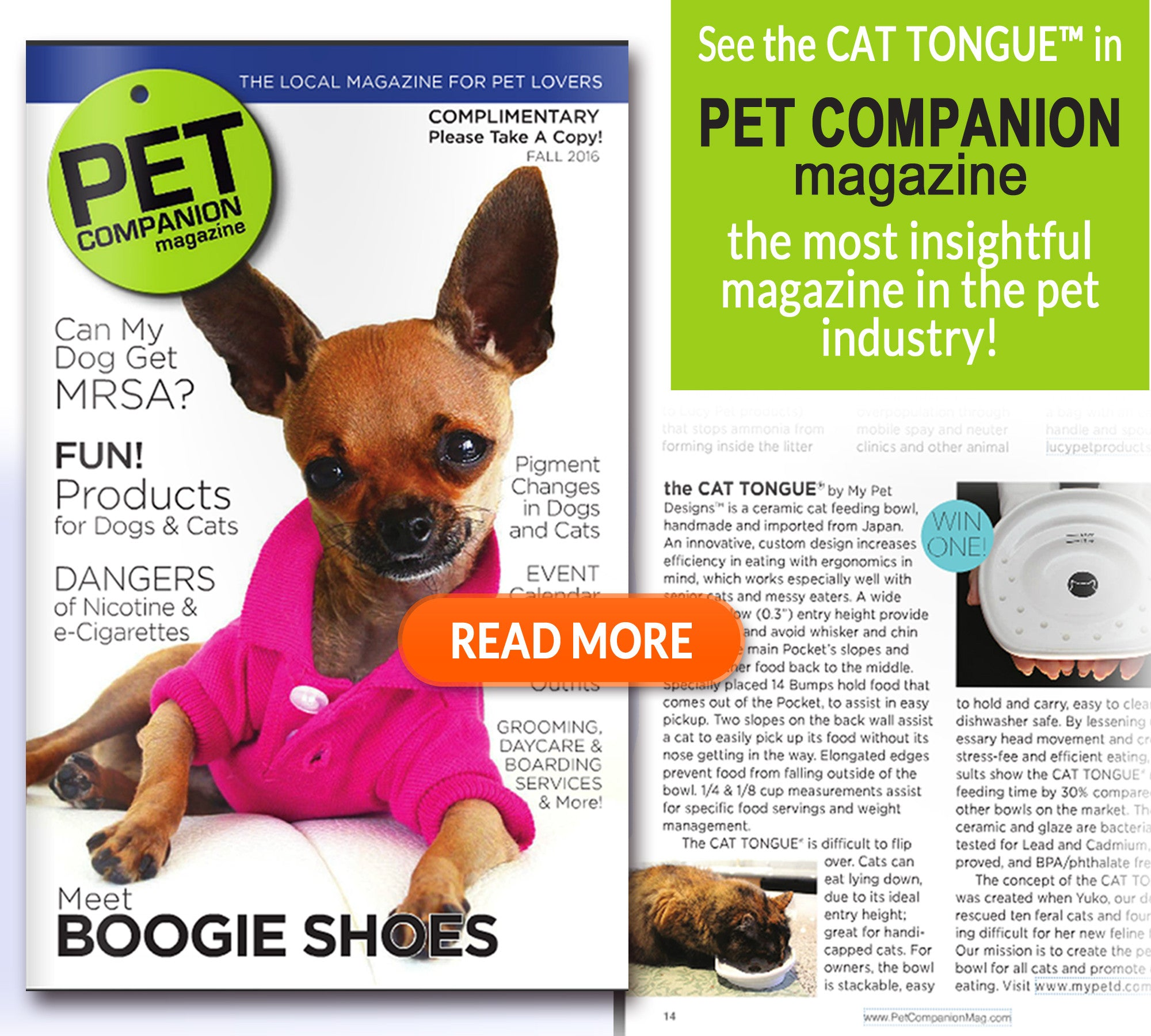 featured in PET COMPANION MAGAZINE