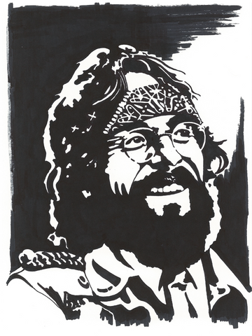 Tommy Chong Sharpie Art by Lee Ajax Olson