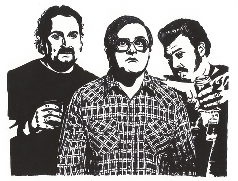 Trailer Park Boys Sharpie Art by Lee Ajax Olson
