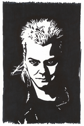 Keifer Sutherland Sharpie Art by Lee Ajax Olson