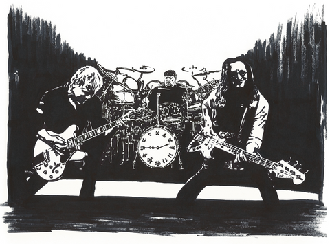 Rush Sharpie Art by Lee Ajax Olson