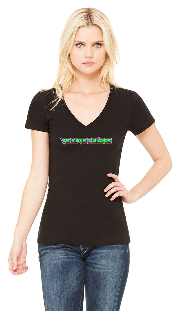 "Ben Liebrand Ladies' ""We Love 2 Dance"" Neon V-Neck"