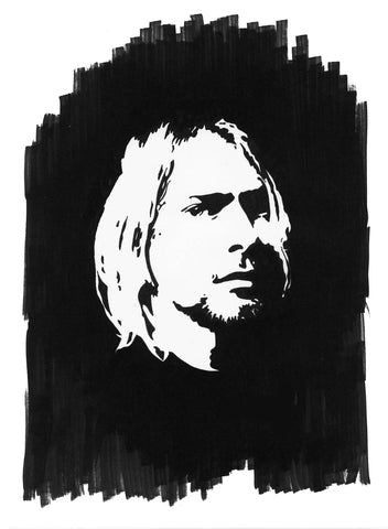 Kurt Cobain Sharpie Art by Lee Ajax Olson