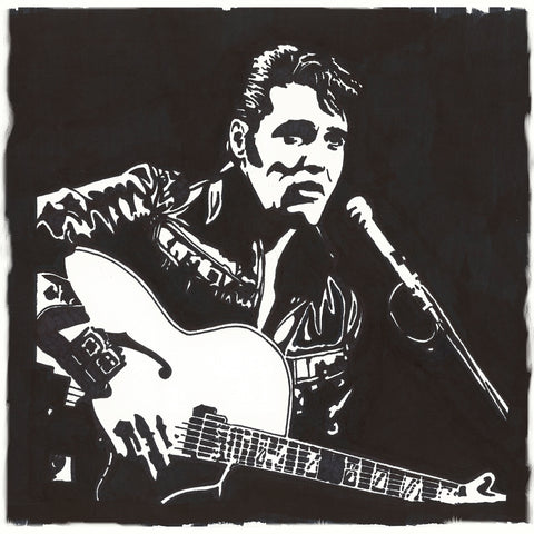 Elvis Presley Sharpie Art by Lee Ajax Olson
