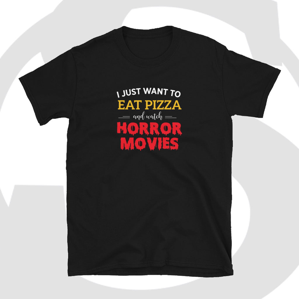Pizza and Horror Movies Short-Sleeve Unisex T-Shirt