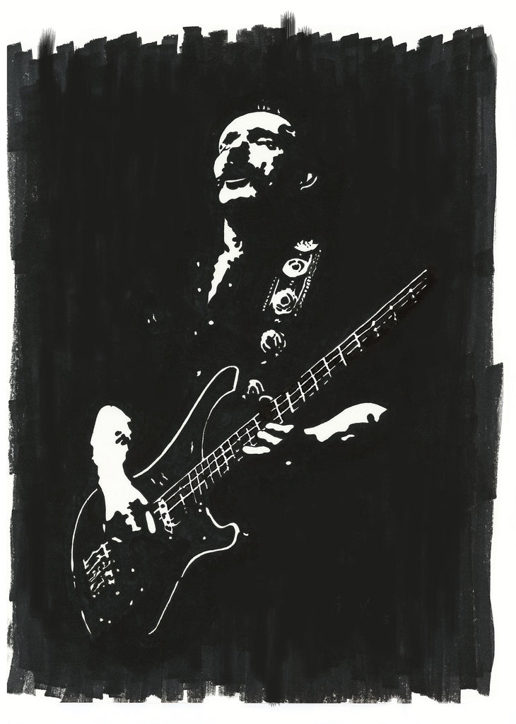 Lemmy Sharpie Art by Lee Ajax Olson