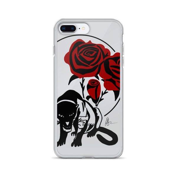 Panther & Roses iPhone Case