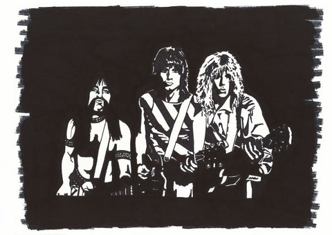 Spinal Tap Sharpie Art by Lee Ajax Olson