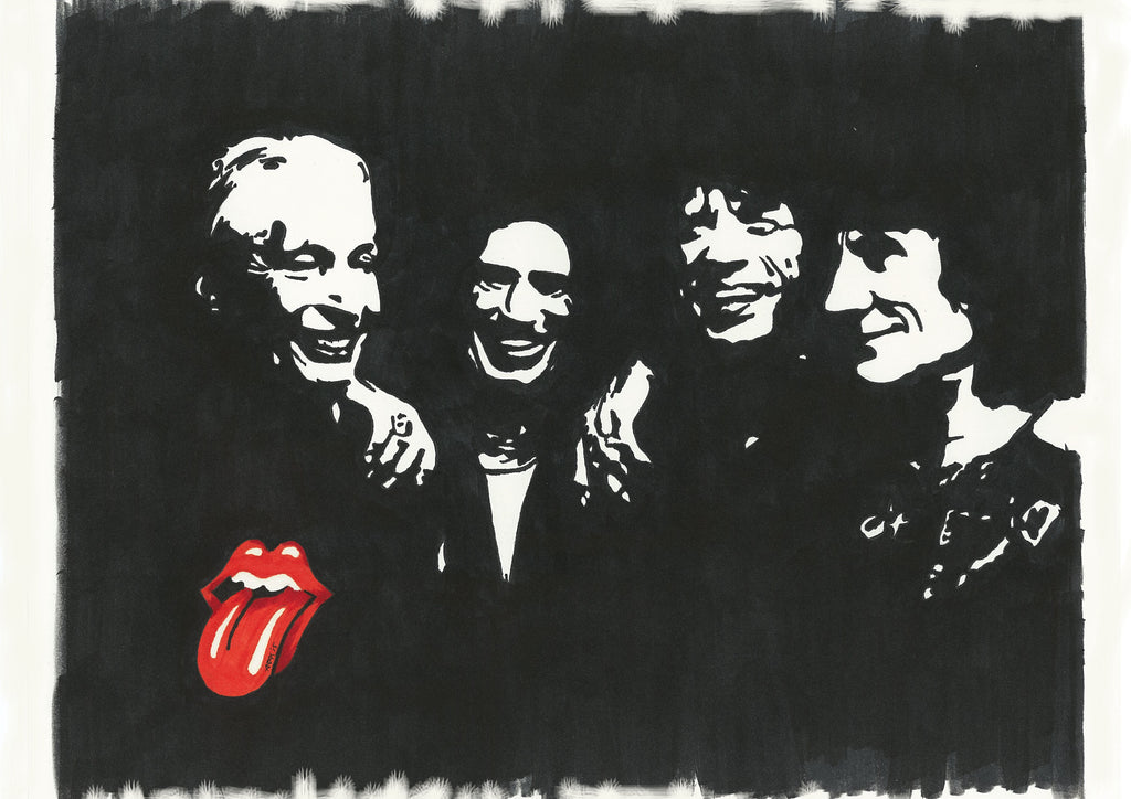 Rolling Stones Sharpie Art by Lee Ajax Olson