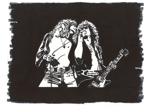 Led Zepplin Sharpie Art by Lee Ajax Olson