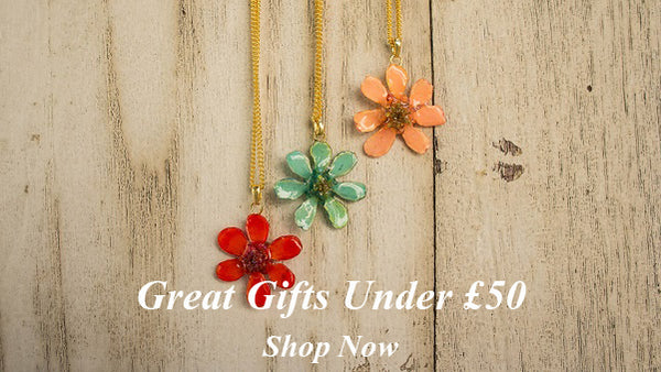 Great Jewellery Gifts Crafted from Real Flowers and Leaves for under £50