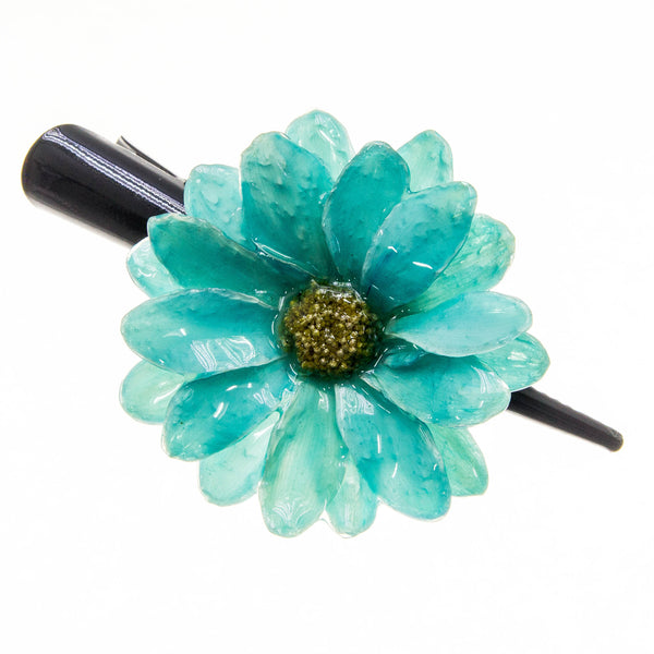 Aster Hairclip - Teal Green