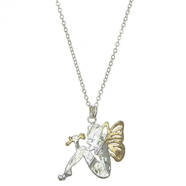 Gold Winged Fairy Pendant