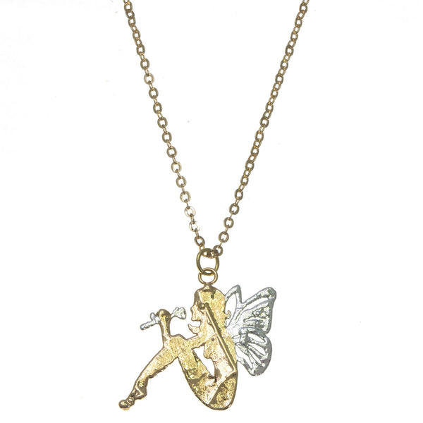 Silver Winged Fairy Pendant