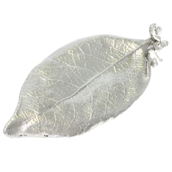 Bay Leaf and Bud Brooch