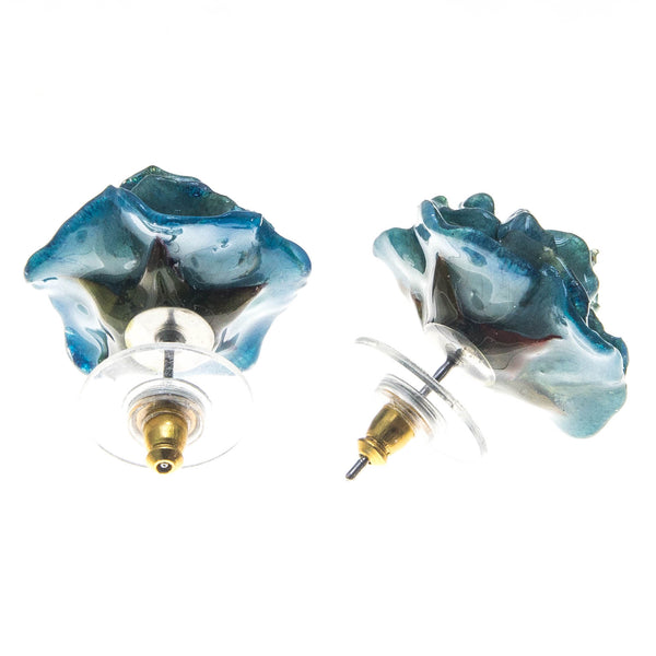 Rose Earrings - Turquoise