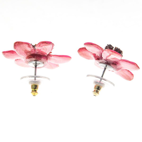 Zinnia Earrings - Pink