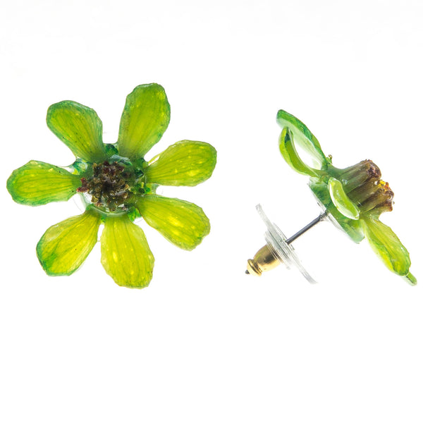 Zinnia Earrings - Green