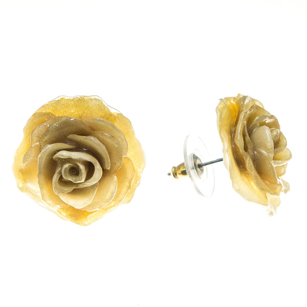 Rose Earrings - Cream