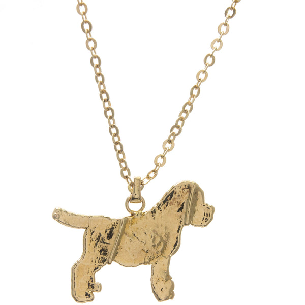 Gold Dog Pendant