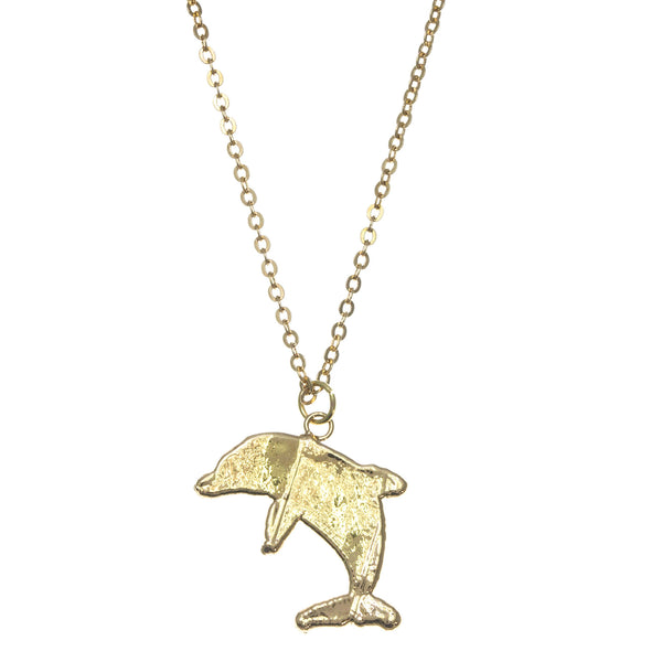 Gold Dolphin Pendant