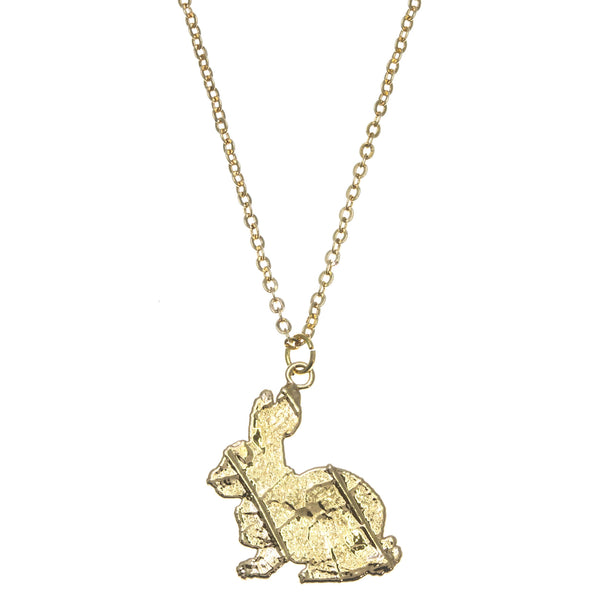 Gold Rabbit Pendant