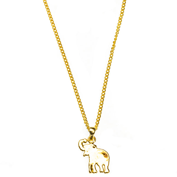Miniature Gold Elephant Pendant