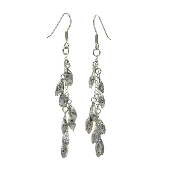 Silver Rice Grain Earrings