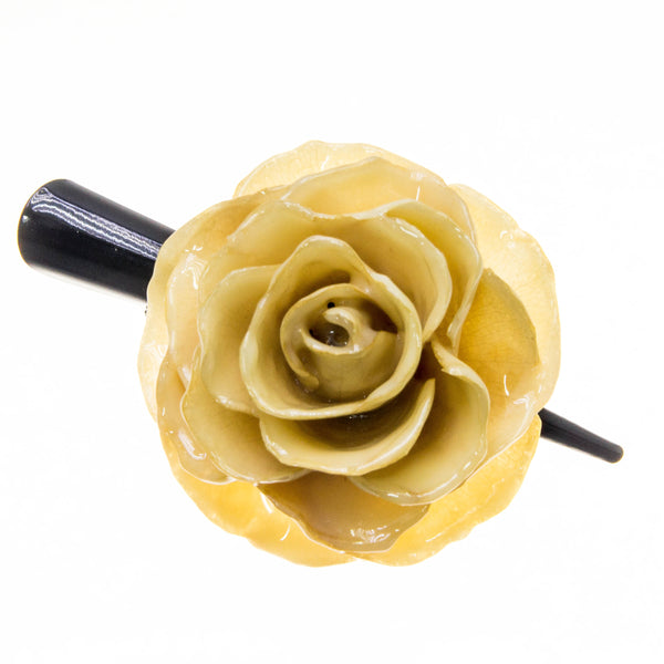 Rose Hairclip - Cream