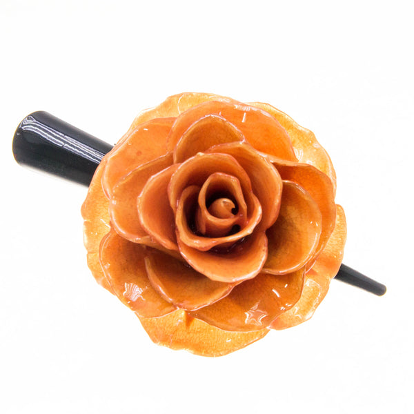 Rose Hairclip - Orange